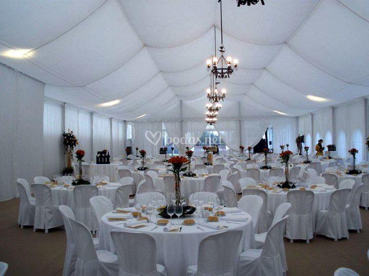 Carpa doble techo decorativo