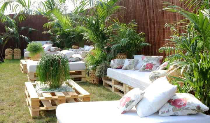 Zona chill out con Plantas