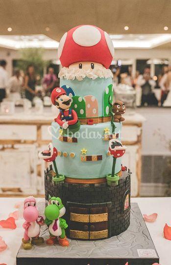 Tarta de boda Mario Bros