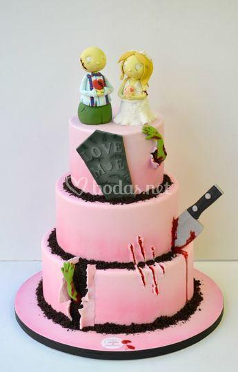Tarta de boda Zombie cuki