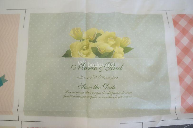 Invitación de boda pañuelo