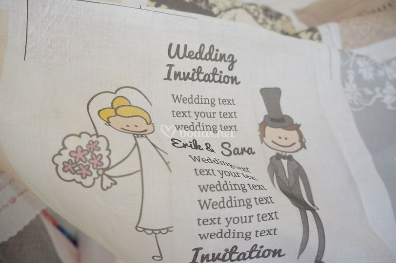Invitación de boda en voile