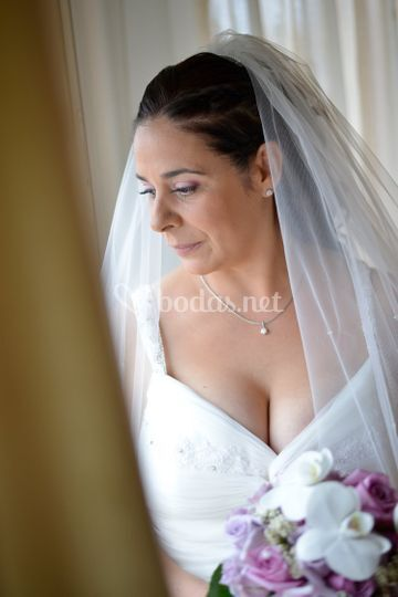 Detalle de la novia