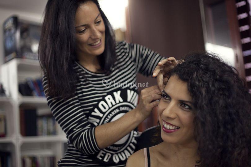 Maquillaje y peinado invitada