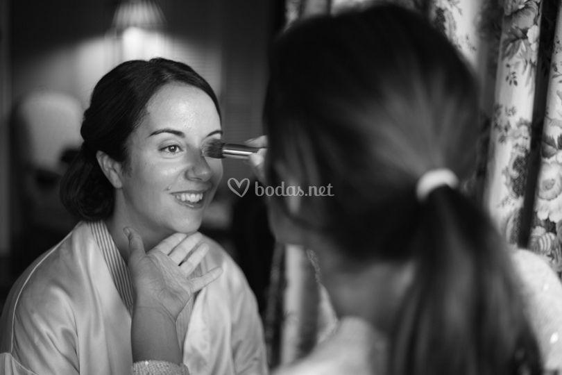 Detalle maquillaje
