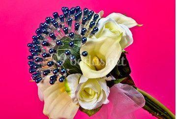 Alfileres perla azul