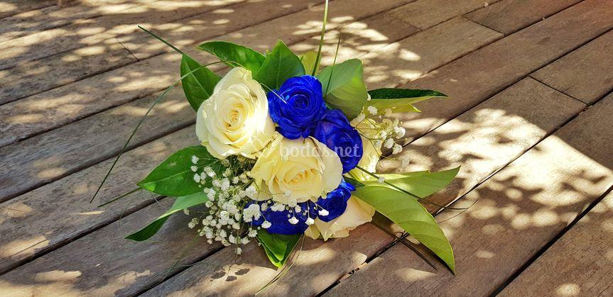 Delicadeza del ramo de novia