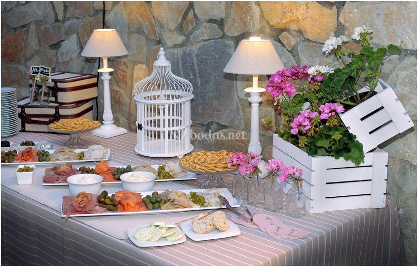 Detalle de buffet ahumados
