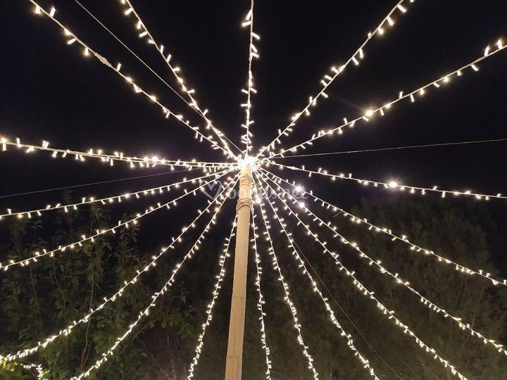 Paraguas de luces