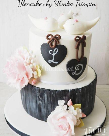 Tarta de boda Rústica