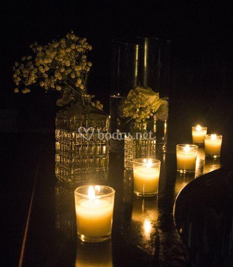 Noche con velas