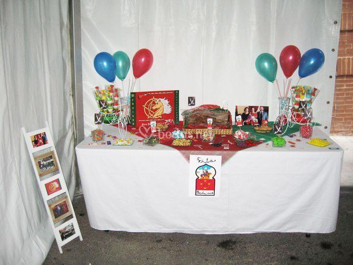 Mesa dulce Moros y Cristianos