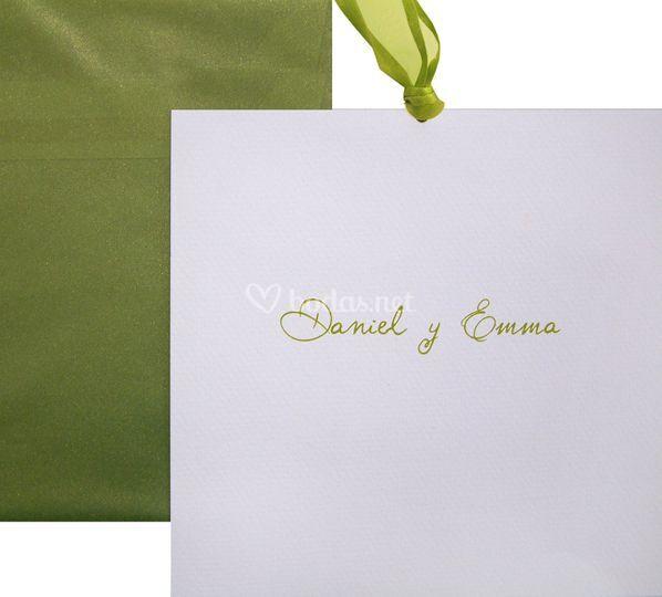 Invitación Nombres verde