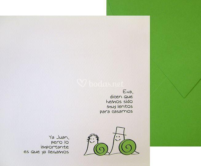 Invitación Caracoles