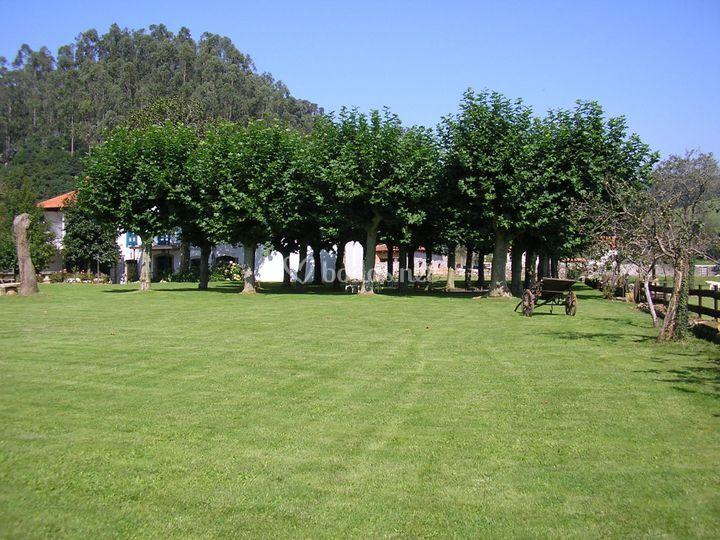 Amplio jardín