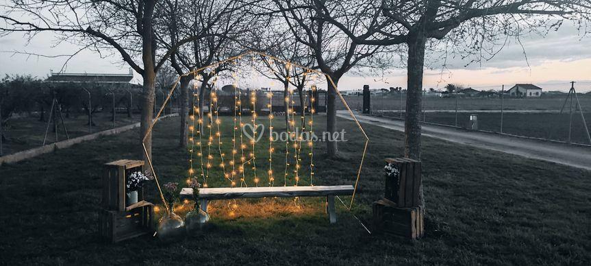 Photocall o arco civil para ceremonia