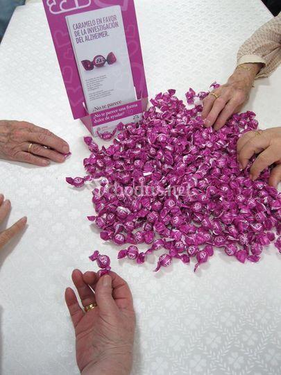 Caramelos para los invitados