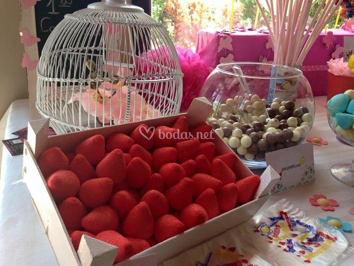 Detalle mesas dulces
