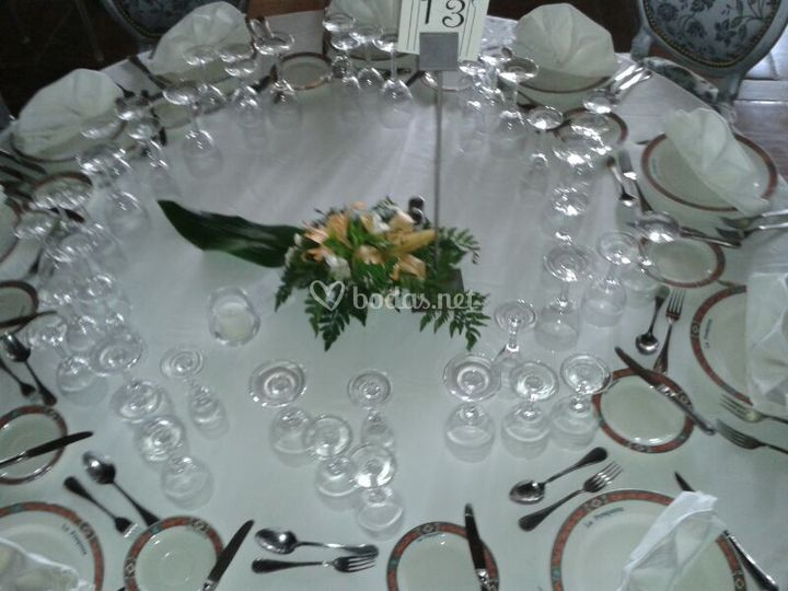 Centro mesas invitados