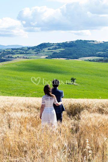 Preboda en la Toscana, Italia