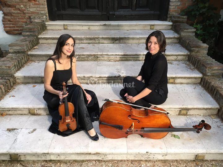 Violín y violonchelo