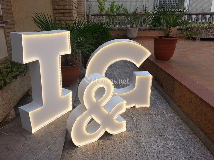 Letras luminosas boda ilallum