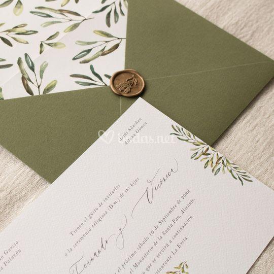 Invitación de boda 'Olive'