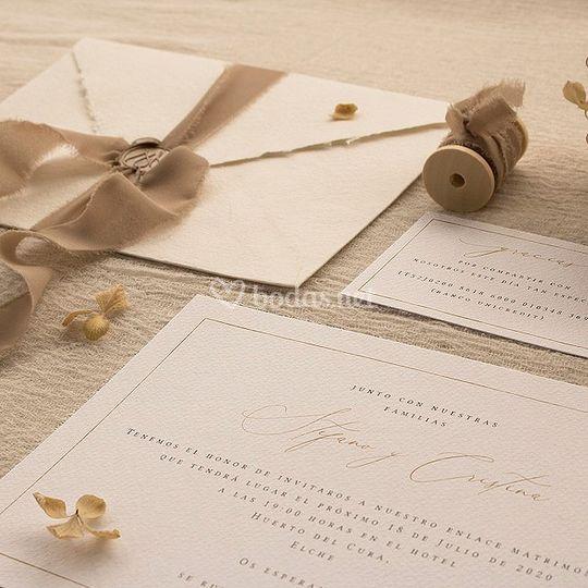 Invitación de boda 'S&C'
