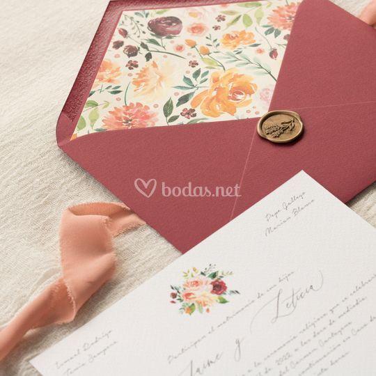Invitación de boda 'Spring'