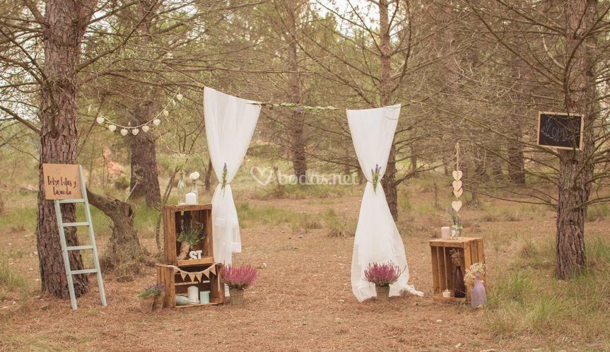 Entre tules y lavanda for Decoracion rustica para bodas