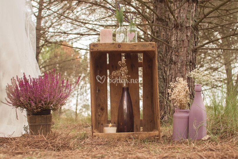 Decoración bodas rústicas