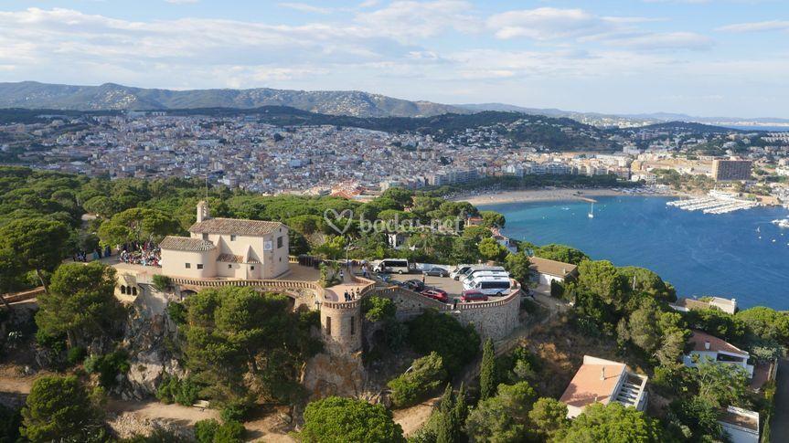 Vista aérea Ermita Sant Elm