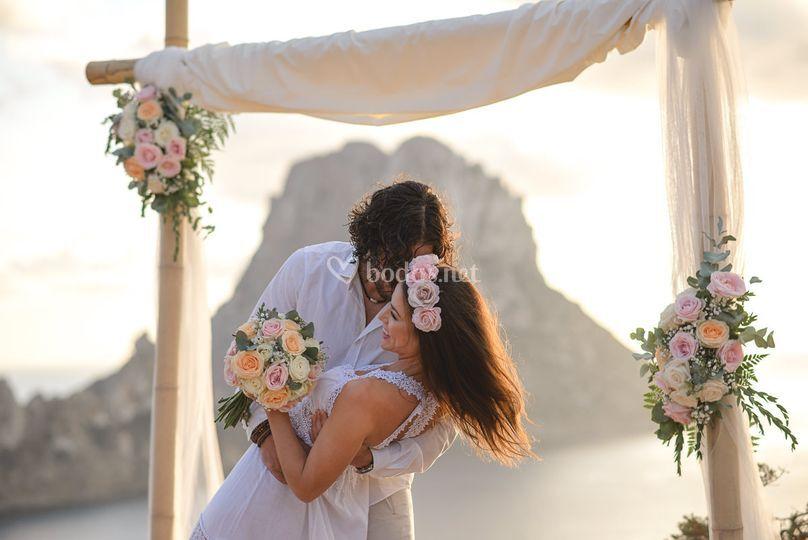 Detalle arco boda Eva y Albert de Tu Hada Madrina