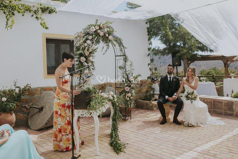 Altar civil almería boda rural