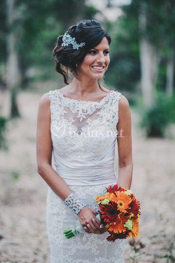 Detalle vestido de novia