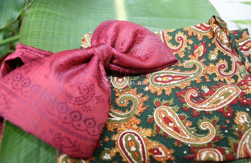 Conjunto en seda inda
