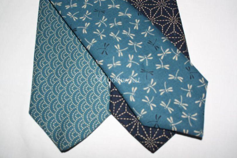 Corbatas tonos azul