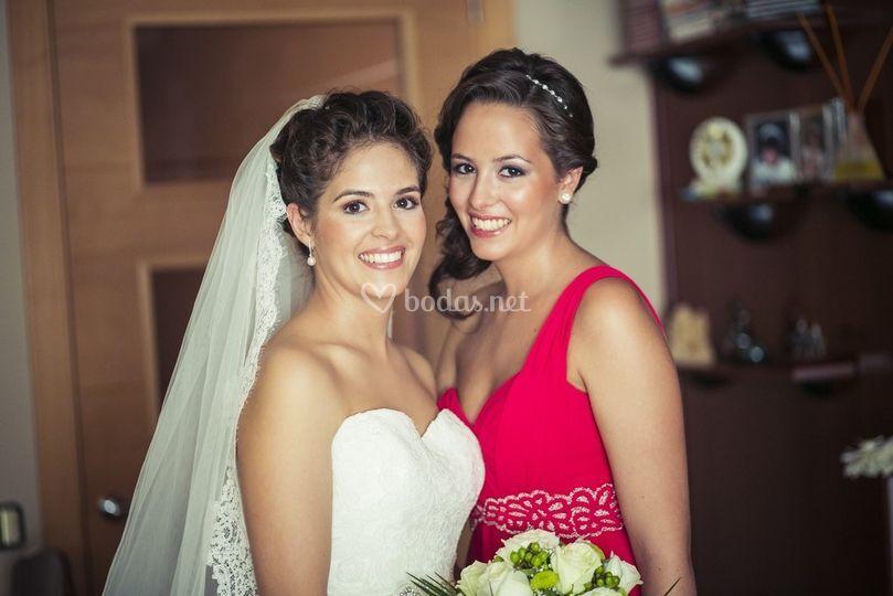 Maquillaje novia e invitada