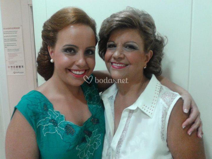 Maquillaje novia y madrina