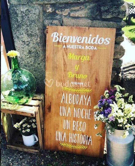 Cartelería en Madera
