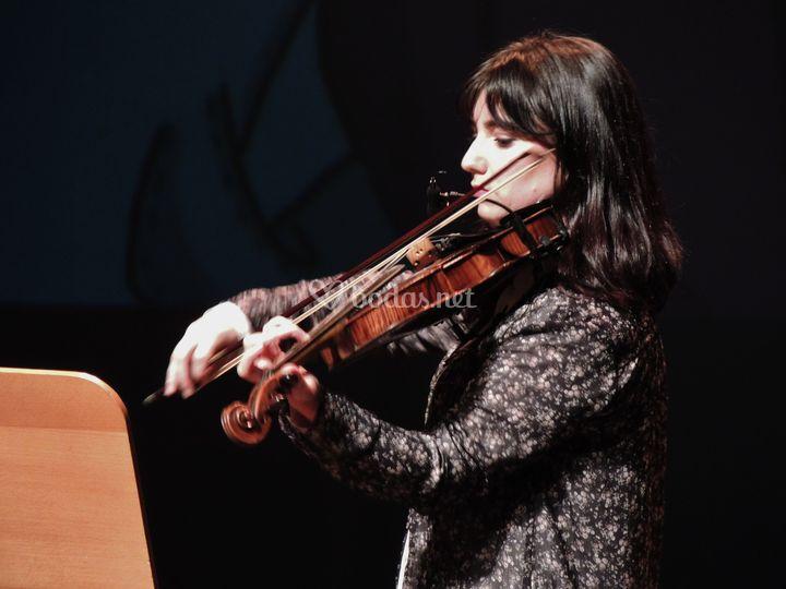 Actuación violín