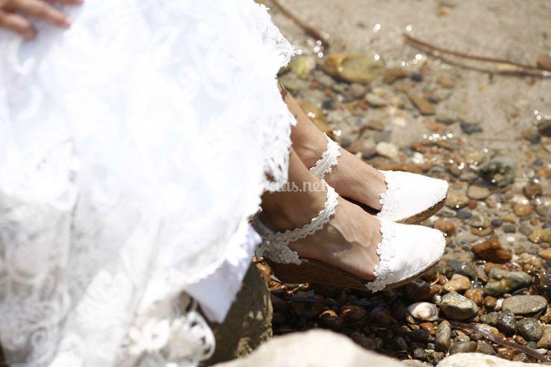 Alpargatas novia marie ibiza