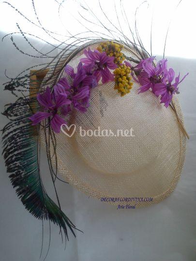 Tocados Flores, Pluma P. Real