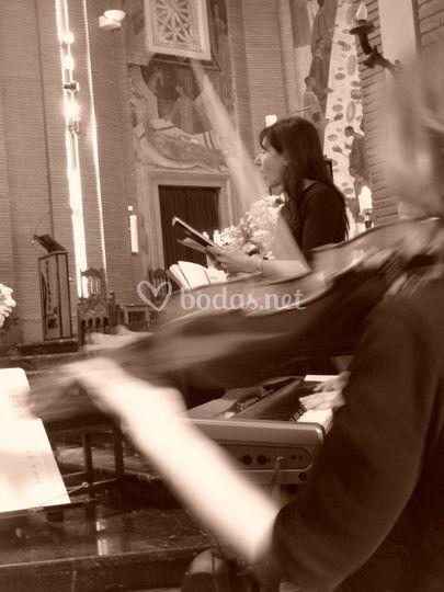 Soprano y violín