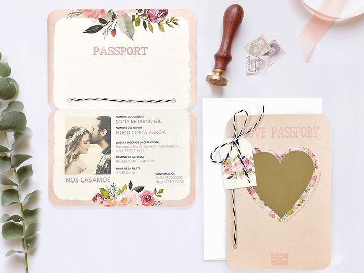 Invit. pasaporte corazón