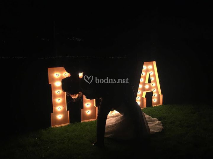 Letras con luz - can ribas
