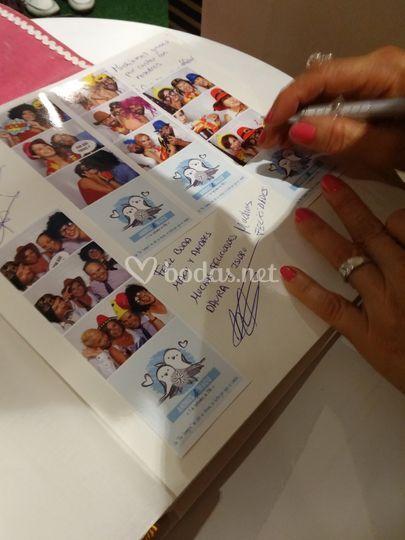 Libro de firmas del fotomatón