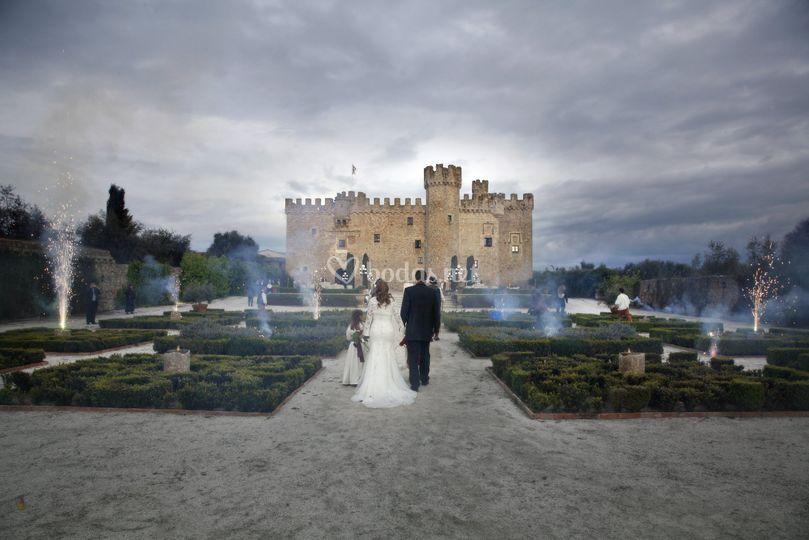 Llegada de los novios al castillo
