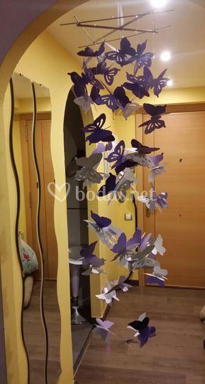 Mariposas colgantes