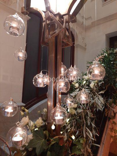 Esferas de cristal vela